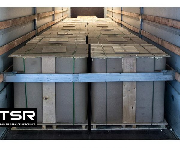 Cargo of special grade bitumen PMB 45/80-65 loaded on the truck