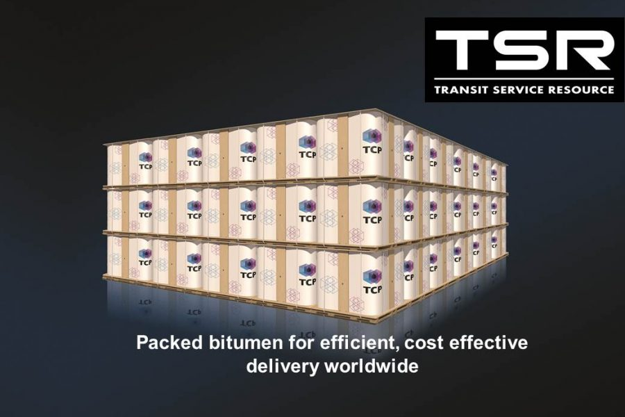 Packed bitumen for efficient, cost effective delivery worldwide