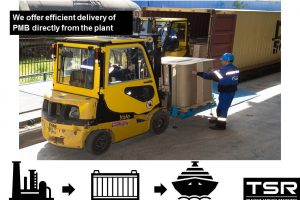 We offer efficient delivery of PMB directly from the plant