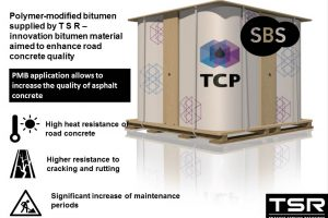 Polymer-modified bitumen (PMB) supplied by TSR — innovation bitumen material